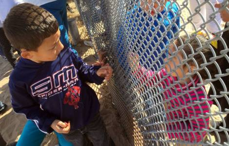 Centinaia di famiglie nella zona di frontiera tra Messico e Stati Uniti