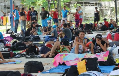 Cubains bloqués à la frontière