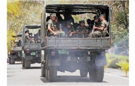 Convoi militaire au Nicaragua