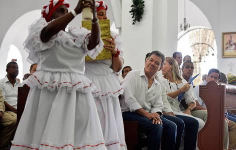 Le Président Santos à Buenaventura
