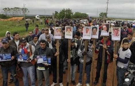 Um protesto em Curuguaty