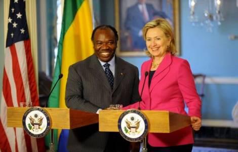 Ali Bongo Ondimba e Hillary Clinton