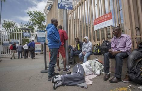 Haitiens à la frontière avec les Etats-Unis