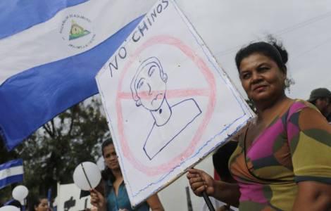 Protestos contra o canal interoceânico