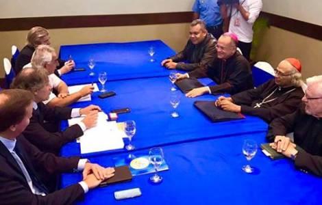 Rencontre entre l'Eglise au Nicaragua et l'OEA