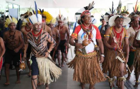 Délégations indigènes reçues au Ministère de la Ju