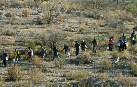 Souvenir des 10 émigrés morts dans un camion de la