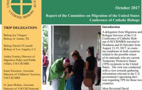 Prorogare la protezione temporale agli emigrati da El Salvador e Honduras: rapporto e richiesta dei Vescovi