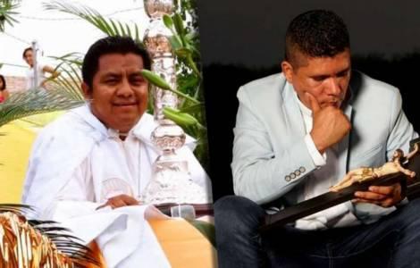 Les Pères Ivan Jaimes et Germain Muniz Garcia