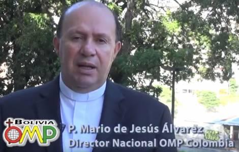 Mons. Mario de Jesús Álvarez Gómez, Direttore nazionale delle Pontificie Opere Missionarie in Colombia,