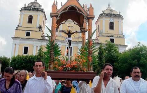"""la festa religiosa in onore del """"Cristo Negro"""","""